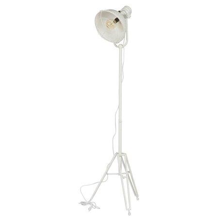 BePureHome Suelo de la lámpara del faro 167x54x45cm metal blanco