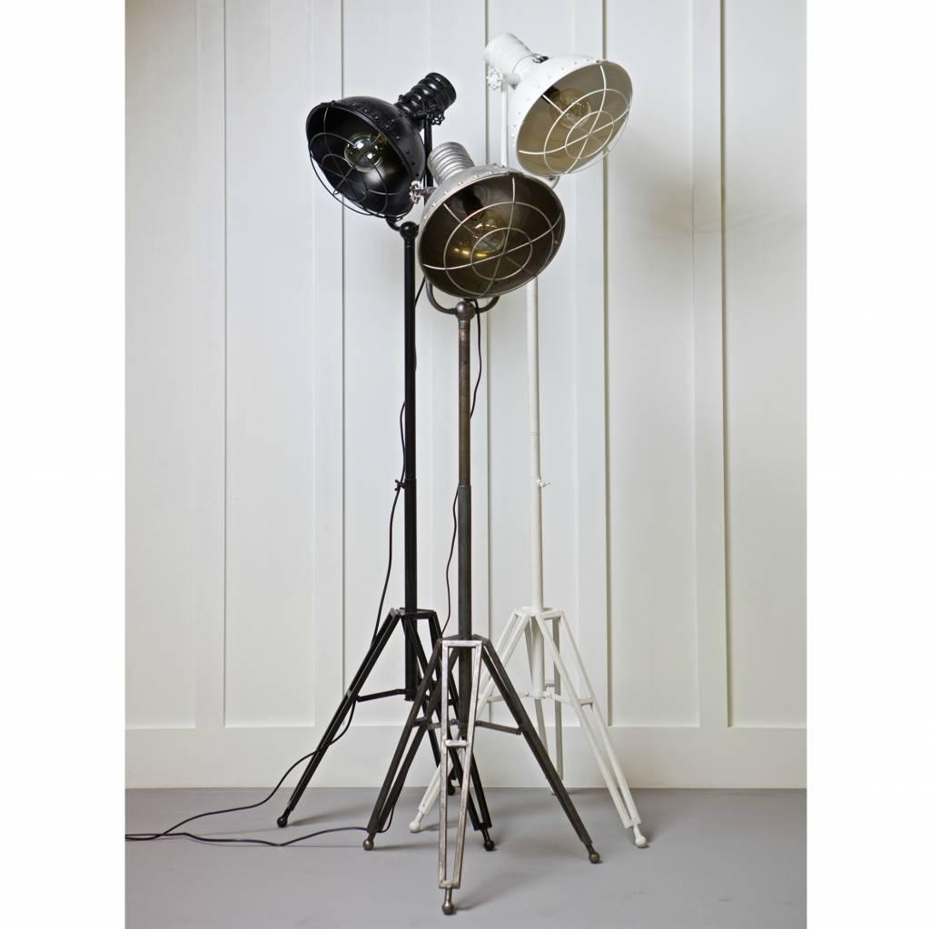 bepurehome stehlampe scheinwerfer wei metall 167x54x45cm. Black Bedroom Furniture Sets. Home Design Ideas