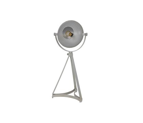 BePureHome Tischleuchte aus mundgeblasenem grau Metall 79x37x31cm