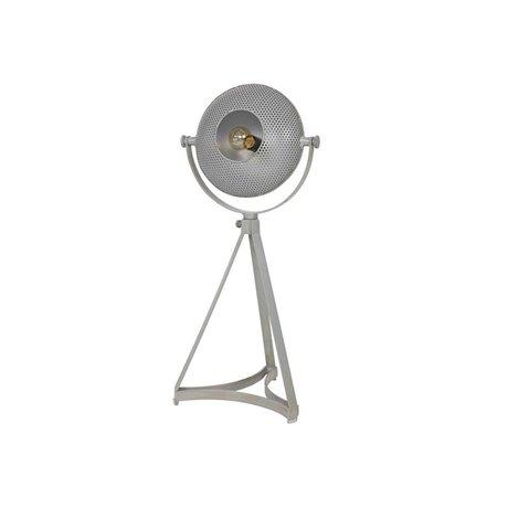 BePureHome el yapımı masa lambası gri metal 79x37x31cm şişmiş