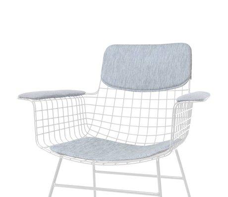 HK-living Oreiller Ensemble de chaise avec accoudoirs confort gris Kit