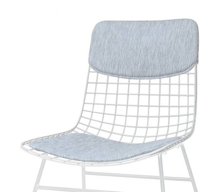 HK-living Comfort kit gray metal wire chair