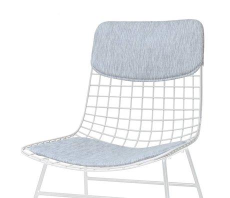 HK-living sandalye Konfor Kiti gri Yastık Seti