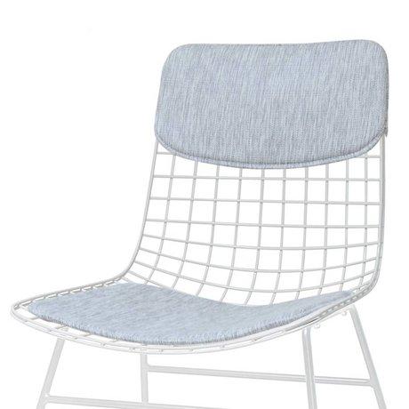 HK-living Comfort Kit grau Metalldraht Stuhl