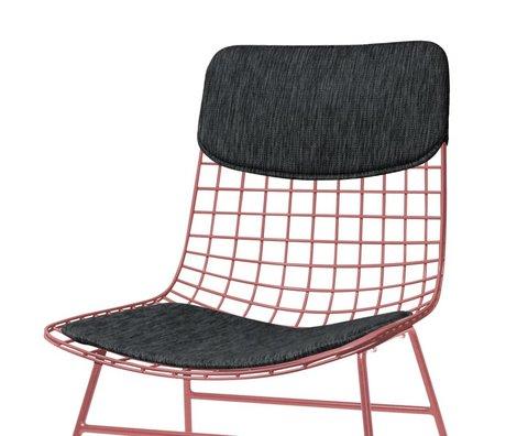 HK-living sandalye Konfor Kiti siyah Yastık Seti