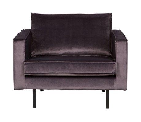 BePureHome Rodeo velours gris fauteuil de velours 105x86x85cm