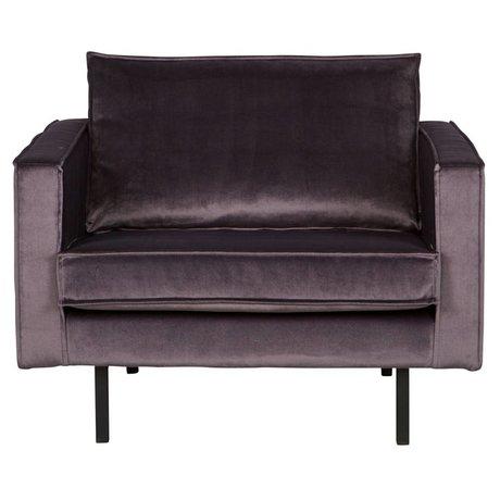 BePureHome Rodeo grå fløjlslænestol fløjl 105x86x85cm