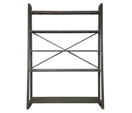 BePureHome Splurge black metal rack di stoccaggio 195x140x54.5cm