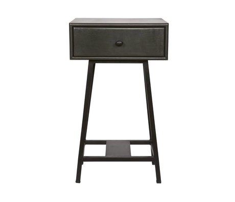 BePureHome Side Table Skybox black metal 70x45x30cm