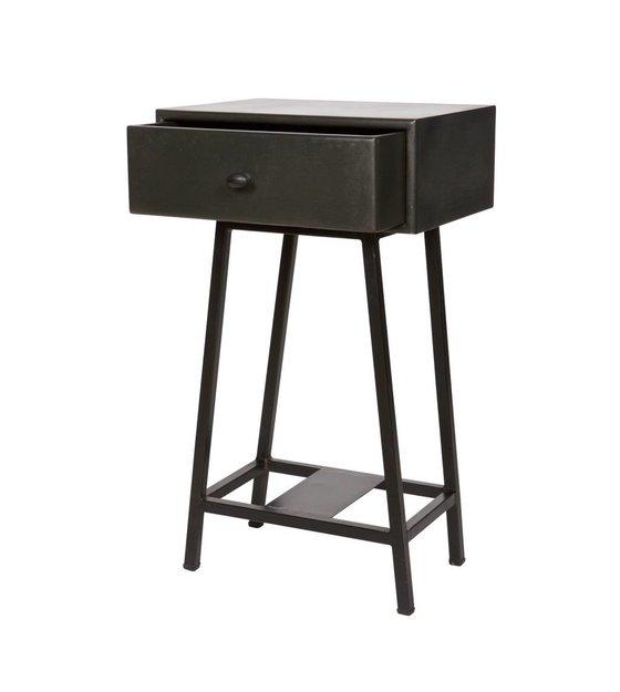 bepurehome beistelltisch skybox schwarz metall 70x45x30cm. Black Bedroom Furniture Sets. Home Design Ideas