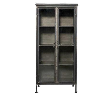 BePureHome armoire coffret métal noir puriste 59x41x124cm