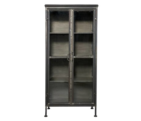 BePureHome Puristic black metal cabinet cabinet 59x41x124cm