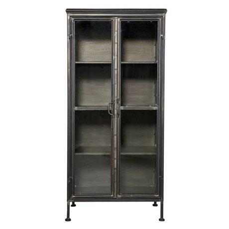 BePureHome Purist black metal kabine dolap 3,2x144x51,5cm