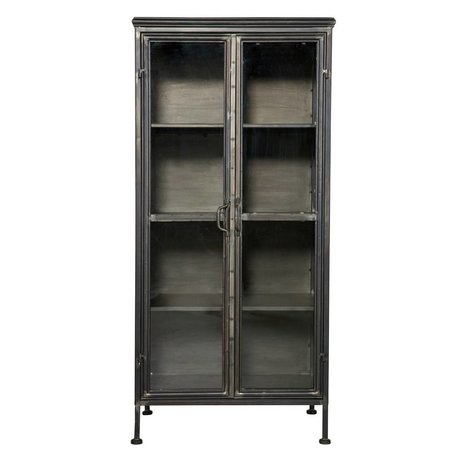 BePureHome Purista de metal negro 59x41x124cm Mueble