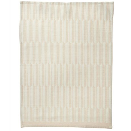 Ferm Living Arch pink tea towel organic cotton 50x70cm