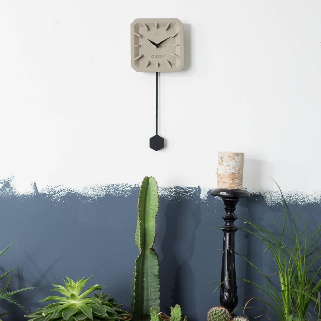zuiver tiktak stechuhr grauem beton schwarz aluminium 15. Black Bedroom Furniture Sets. Home Design Ideas