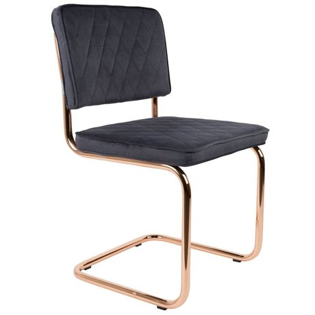 Zuiver Dining Chair Diamant grau Polyester 48x48x85cm