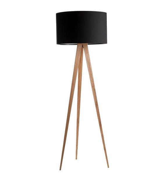 Zuiver Floor lamp tripod natural wood black 151x50cm - lefliving.com