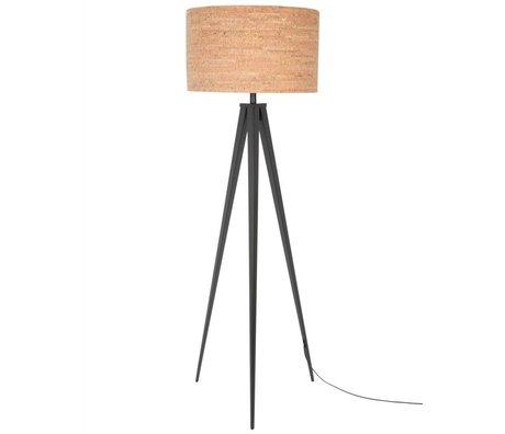 Zuiver Stativ-Stehlampe schwarz braun Kork Metall 157x50cm