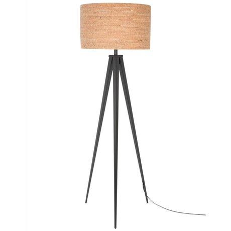 Zuiver Bodenlampe Tripod, braun-schwarz,  Kork, Metall 157 x 50 cm