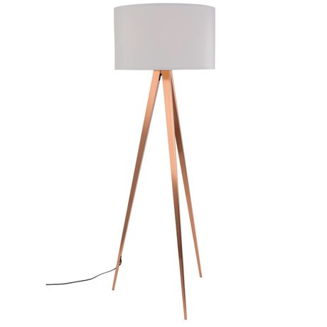 Zuiver Tripod floor lamp white textile metal copper 154,5x50cm