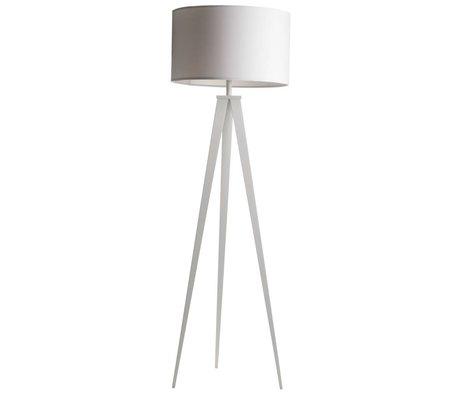 Zuiver Lampe sur pied trépied tissus blanc 157x50cm métallique