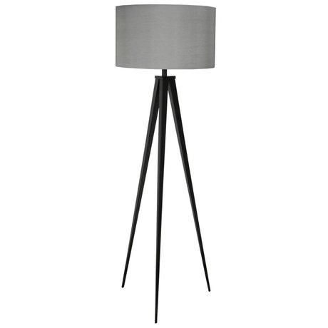 Zuiver Bodenlampe Tripod, schwarz grau, Textil, Metall, 157 x 50 cm