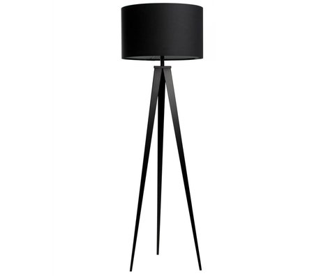 Zuiver Bodenlampe Tripod,  schwarz, Textil, Metall, 157 x 50 cm