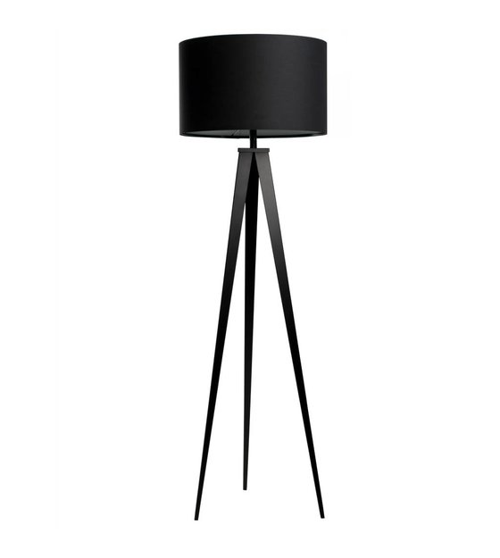 Zuiver Tripod Floor Lamp Black Fabric Metal 157x50cm
