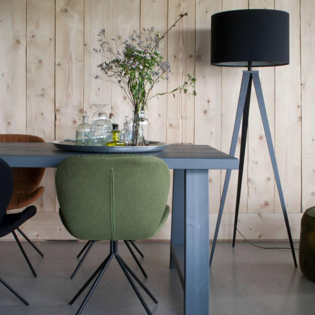 zuiver stativ stehlampe stoff schwarz metall 157x50cm. Black Bedroom Furniture Sets. Home Design Ideas
