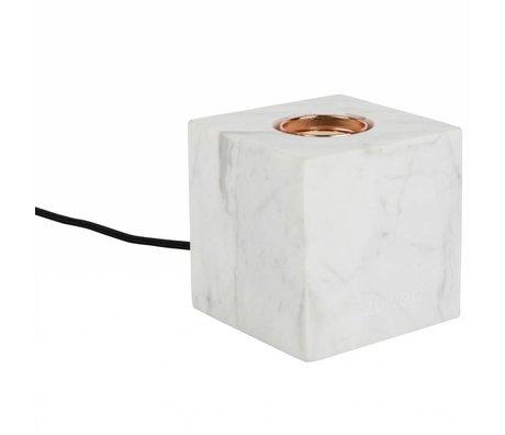 Zuiver Tischleuchte Bolch, weiß, Marmor, 8,5 x 8,5 x 8,5 cm