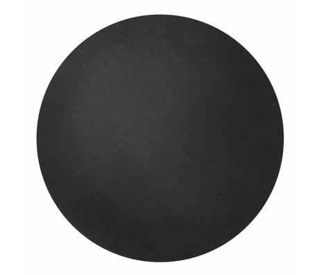 Ferm Living panier tôle Ø50cm noir plaqué chêne