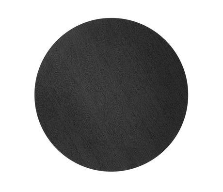 Ferm Living panier tôle Ø40cm placage chêne noir