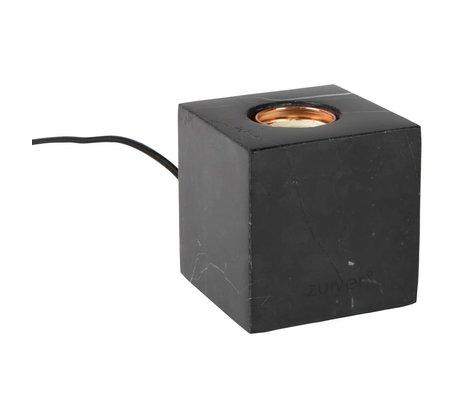 Zuiver Lampe de table Bolch marbre noir 8,5x8,5x8,5cm