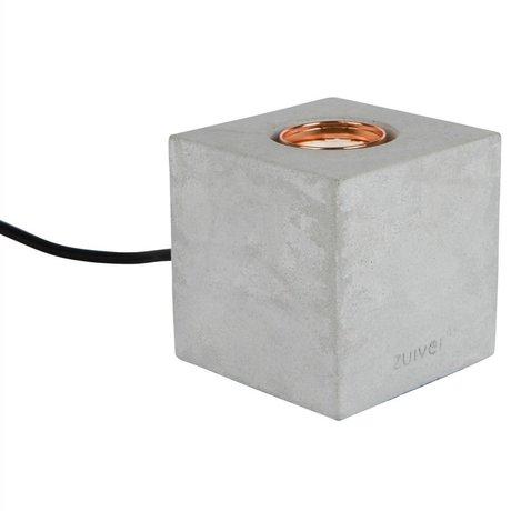 Zuiver Tischleuchte Bolch, grau, Beton, 8,5 x 8,5 x 8,5 cm