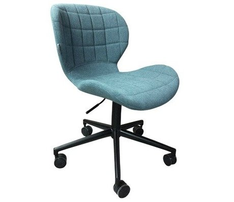 Zuiver OMG polyester blue chair black 52x65x76 / 88cm