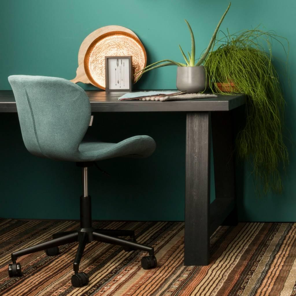 zuiver omg polyester chaise bleue 52x65x76 noir 88cm. Black Bedroom Furniture Sets. Home Design Ideas