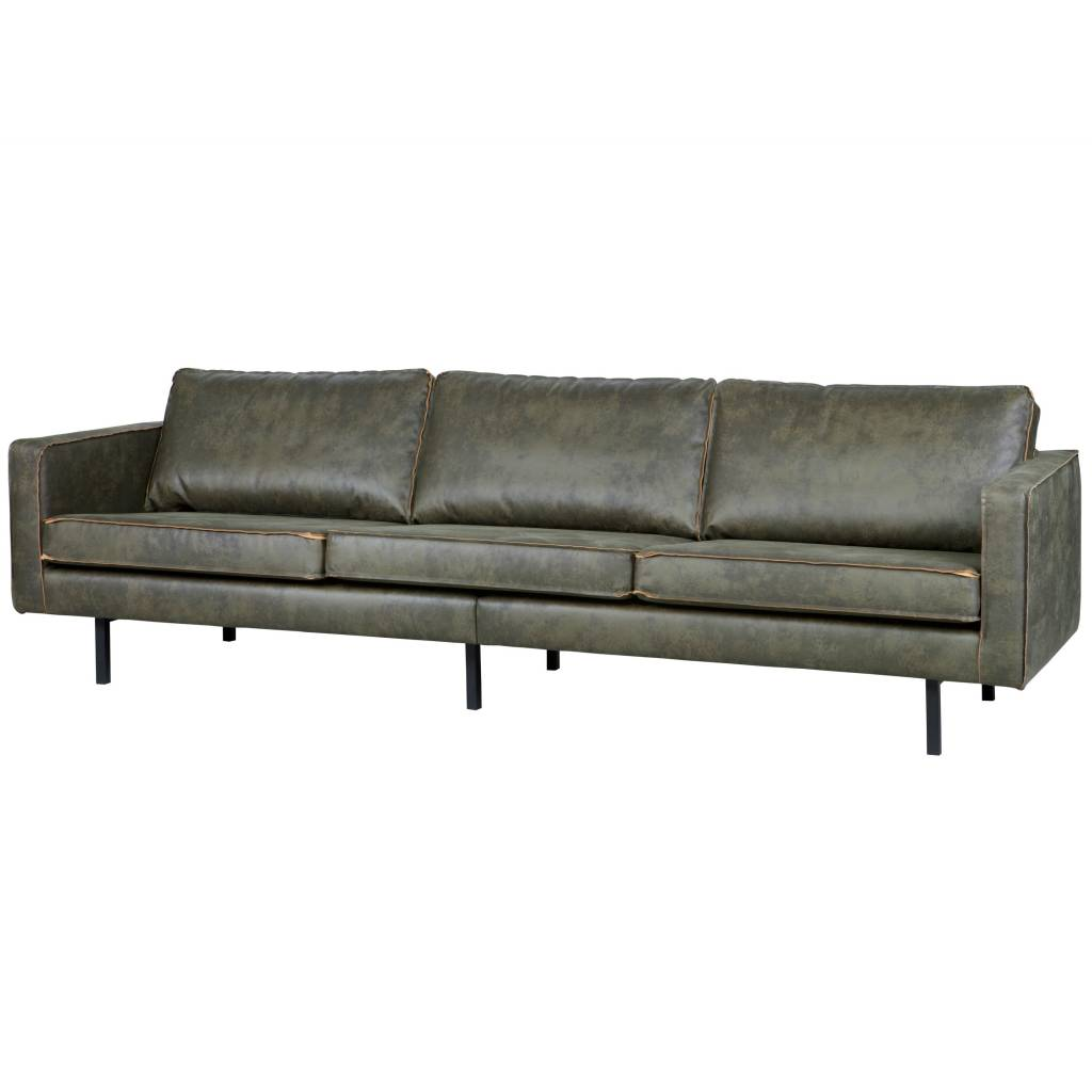 3 sitzer sofa rodeo armee gr nes leder 85x277x86cm. Black Bedroom Furniture Sets. Home Design Ideas