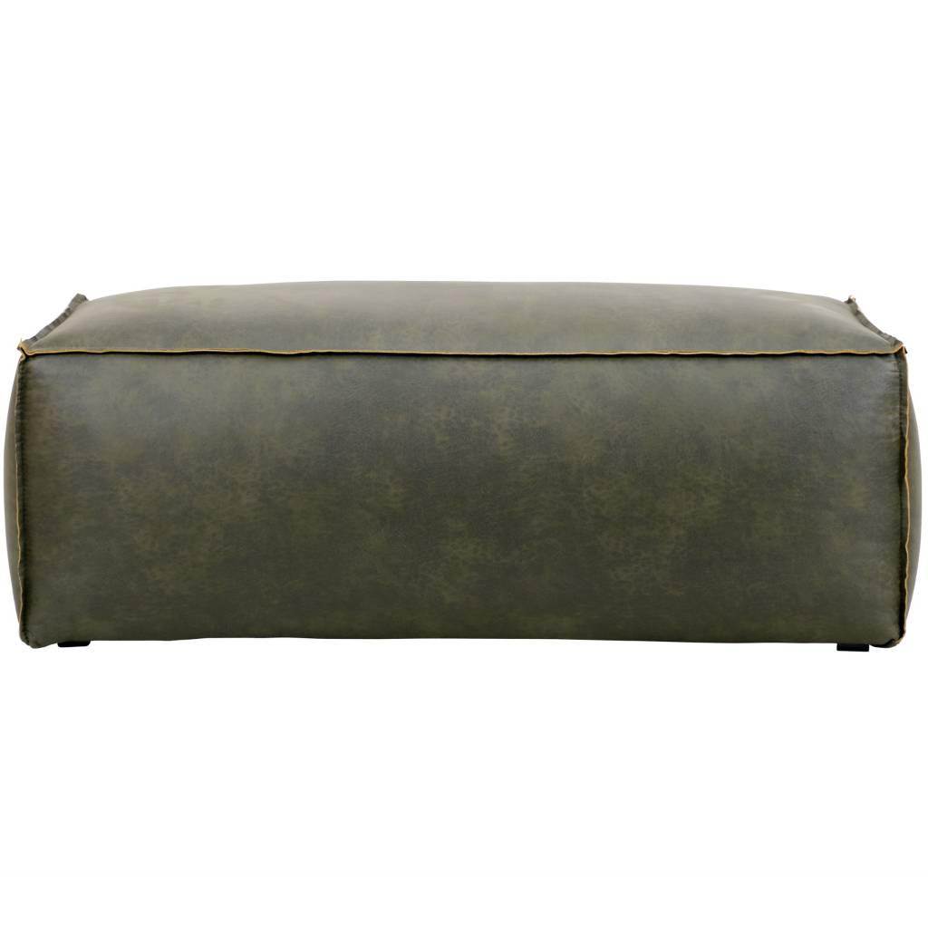 pouf rodeo armee gr nes leder 43x120x60cm. Black Bedroom Furniture Sets. Home Design Ideas