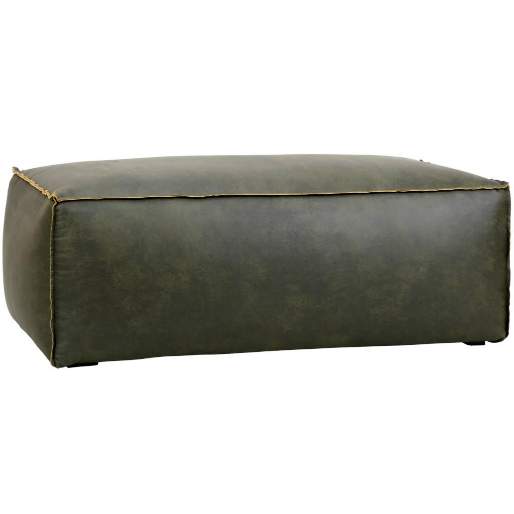 bepurehome pouf rodeo armee gr nes leder 43x120x60cm. Black Bedroom Furniture Sets. Home Design Ideas
