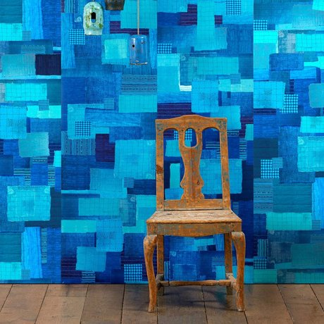 NLXL-Paola Navone fond d'écran Shibori 900x49cm bleu