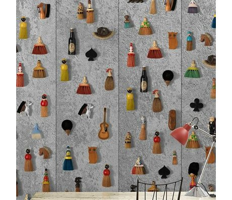 NLXL-Daniel Rozensztroch Wallpaper Brooms multicolor 1000x48,7cm