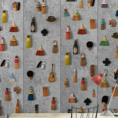 NLXL-Daniel Rozensztroch Fond d'écran Balais multicolore 1000x48,7cm