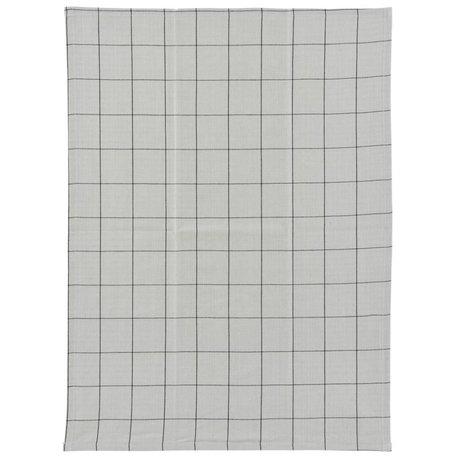 Housedoctor Überprüfen Sie Geschirrtuch grau schwarz Baumwolle 50x70cm
