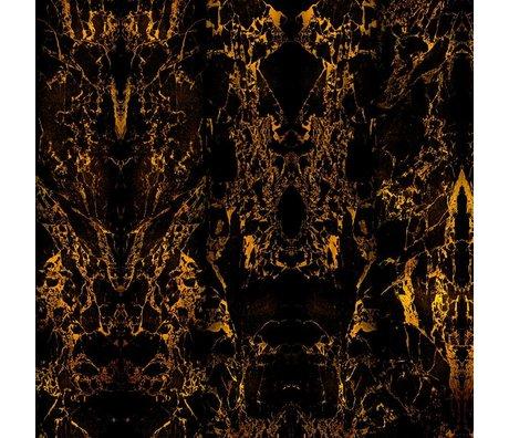 NLXL-Piet Hein Eek Tapete Marmor Schwarz Metallic Papier 71 schwarz 900x48,7cm