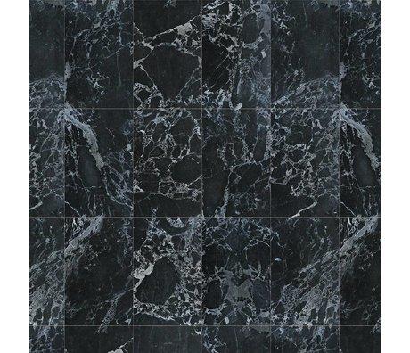 NLXL-Piet Hein Eek Tapete Marmor Schwarz Papier schwarz 900x48,7cm