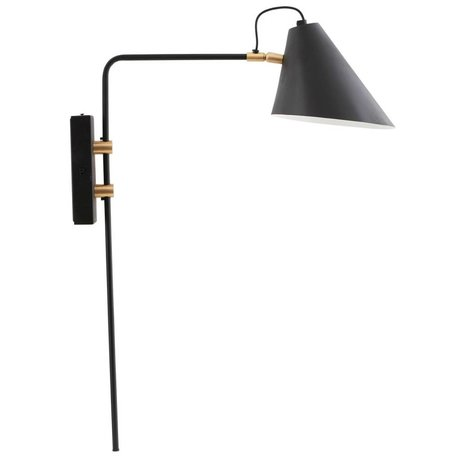 Housedoctor Wandlampe Club schwarz Eisen Ø18-20x54x22cm