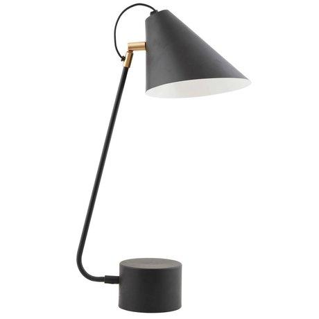 Housedoctor Lampe de table fer noir Club Ø18-20x54cm