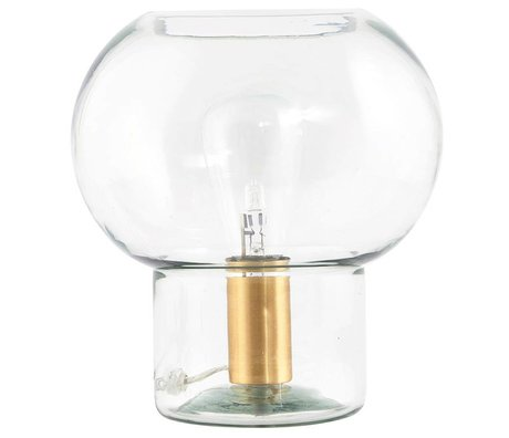 Housedoctor Mush lamp gold glass brass Ø23x26cm