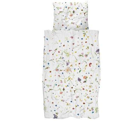 Snurk Beddengoed Edredón de campos de flores multicolores de algodón 260x200 / 220cm